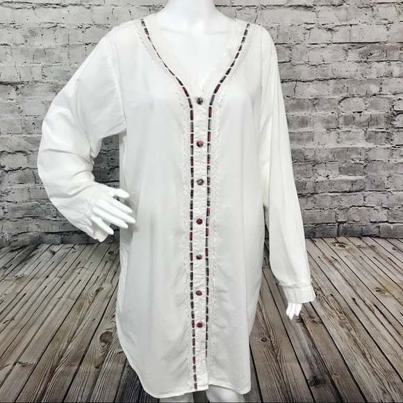 French Laundry Other - ‼️French Laundry L Cotton Shirt Nightgown A1 18 f65842a09